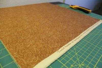 binding fabric tooled leather moda