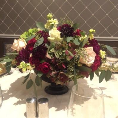 burgundy and cream wedding flowers