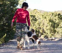 photo of Pet Angel Santa Fe walking with dogs