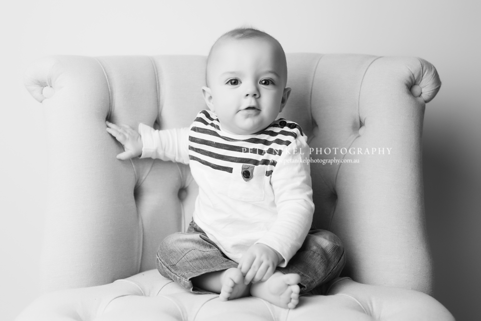 Professional Baby portraits taken in Hobart studio by Peta Nikel