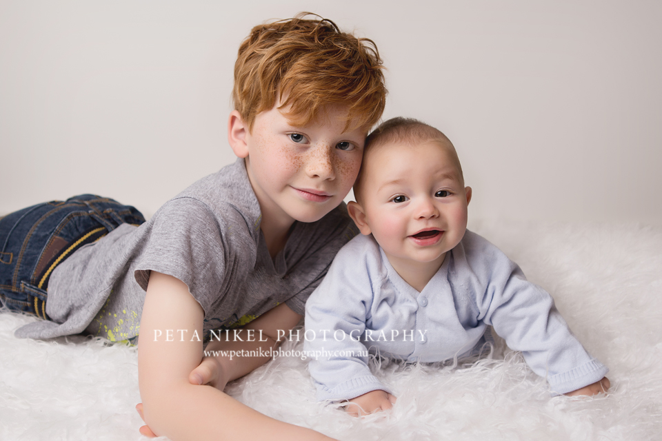 Brothers portrait by hobart baby photographer