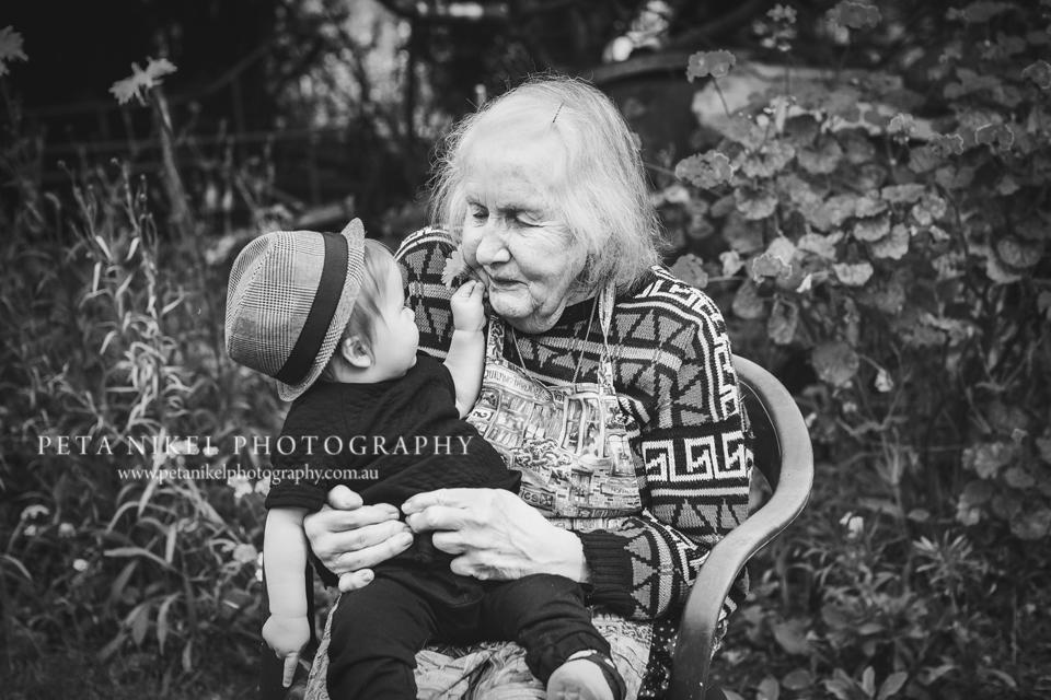 Baby boy with grandma