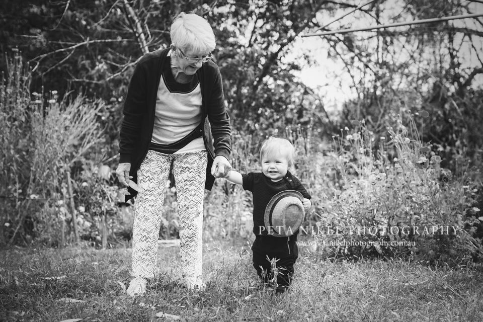 Little boy and his grandma