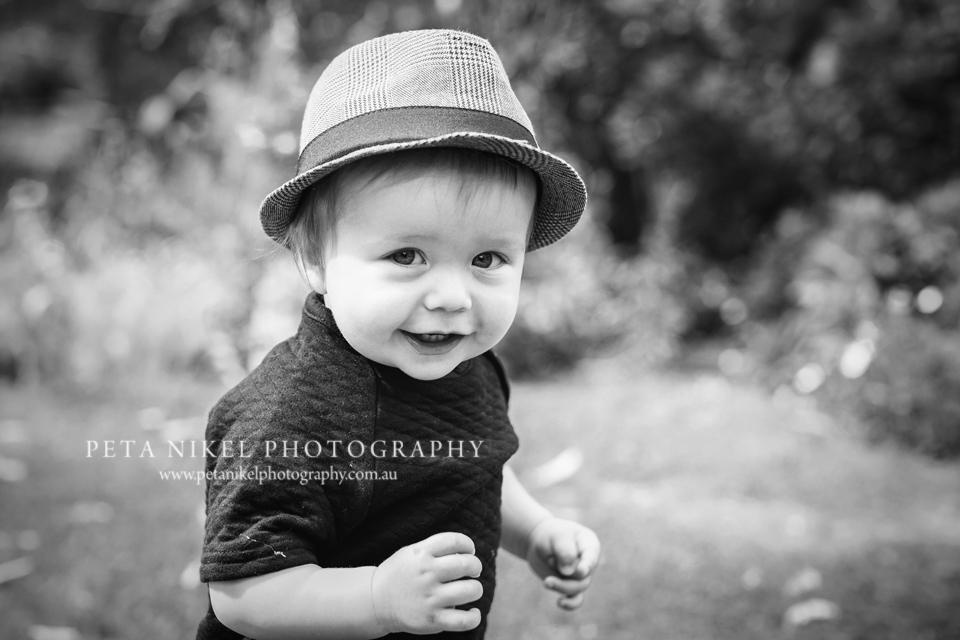 Smiley baby boy