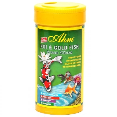AHM Koi & Goldfish Green Sticks Balık Yemi 1000 ml 1