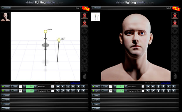 Virtual Lighting Studio An Online Studio Lighting Simulator