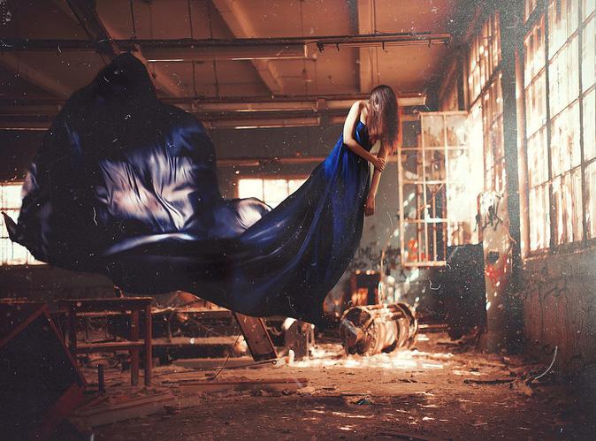 Surreal Photos of Women Floating in Zero Gravity by Nikolay Tikhomirov zero gravity nikolay 14