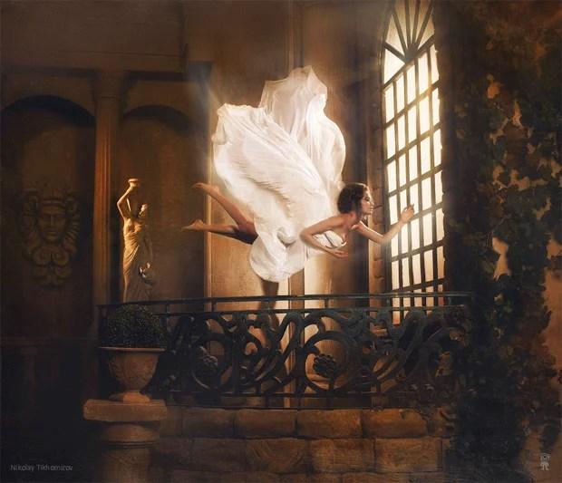 Surreal Photos of Women Floating in Zero Gravity by Nikolay Tikhomirov zero gravity nikolay 3