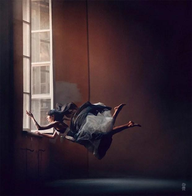 Surreal Photos of Women Floating in Zero Gravity by Nikolay Tikhomirov zero gravity nikolay 9