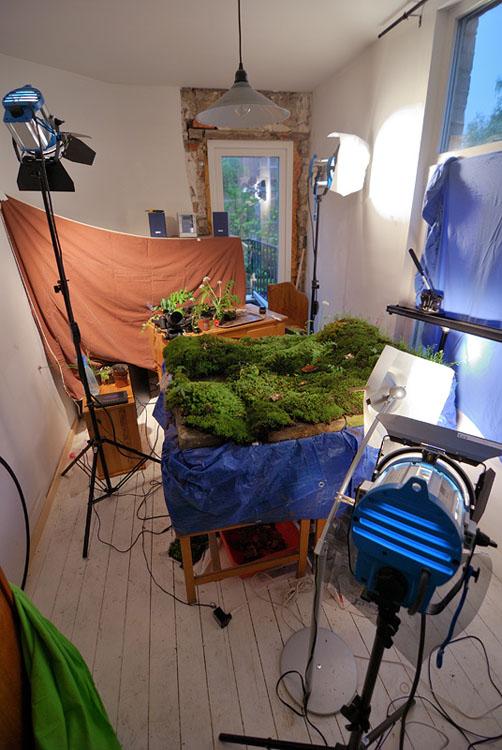 Photographer Captures Outdoor Scenes Inside His Tiny Indoor Studio 2 sunset copy