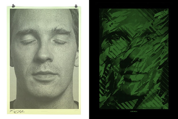 These Binary Prints by Alex Trochut Show Different Portraits in Light and Darkness binary6