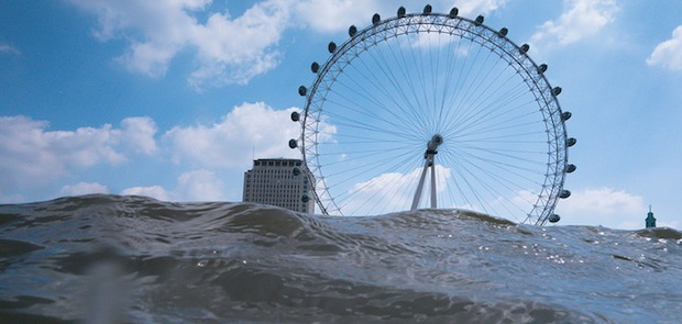 Capture Flooded Views of Cityscapes by Getting Low Above Choppy Water flooded2