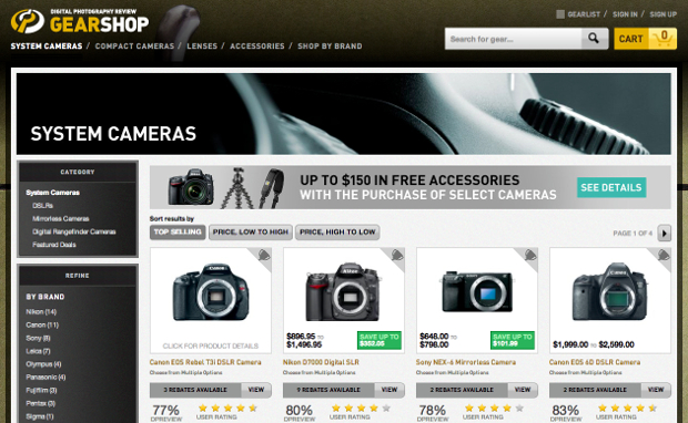 DPReview is Hoping to Convert Its Review Prowess Into Sales with GearShop gearshop2