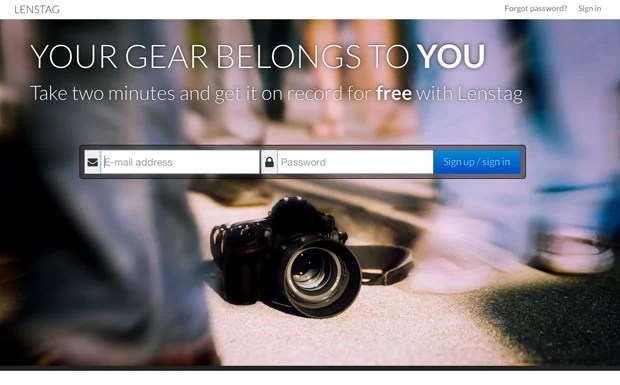 Lenstag: A Free Online Gear Registry that Aims to End Camera and Lens Theft lenstag welcome