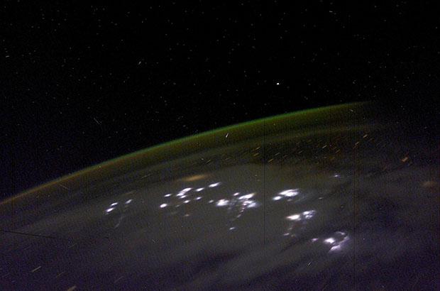 Lightning Storms Photographed From High Above in Space lightning2