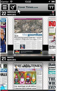 Covertimes: Enjoy Front Page Newspaper Photos from Around the World mobilescreen