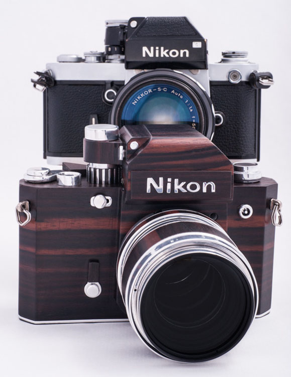 Nikon F2D: A Homemade Digital Nikon F2 Replica Crafted Out of Wood woodennikonf2d 6