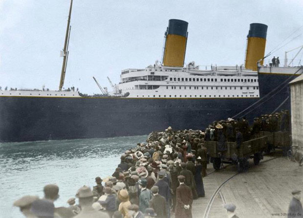 Colorized 1912 Photographs of the Titanic 108