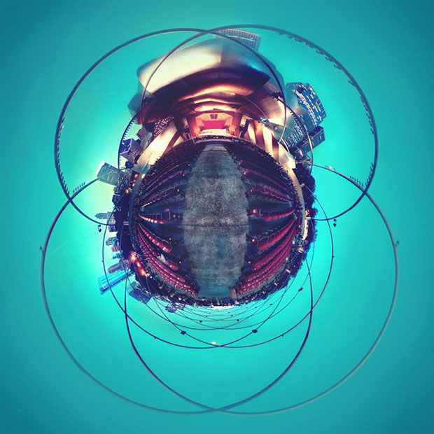 How to Turn a Smartphone Panorama Into a Tiny Planet Photo Millenium park planet