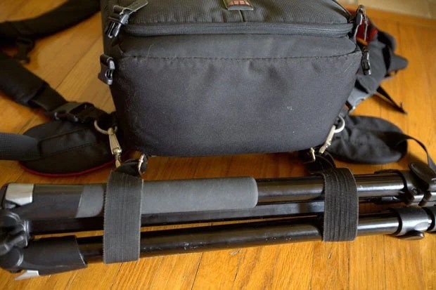 Transport a Tripod by Adding a Strap to the Bottom of a Camera Backpack V6U3s7wh