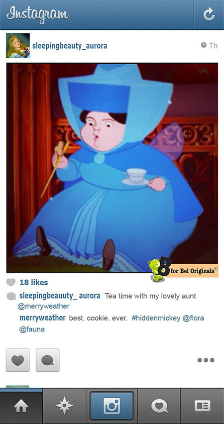 Humor: What if Disney Princesses Shared Photos on Instagram? aurora