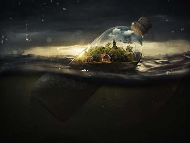 Creating an Awesome Photo Manipulation from Sketch to Final Product driftingaway1