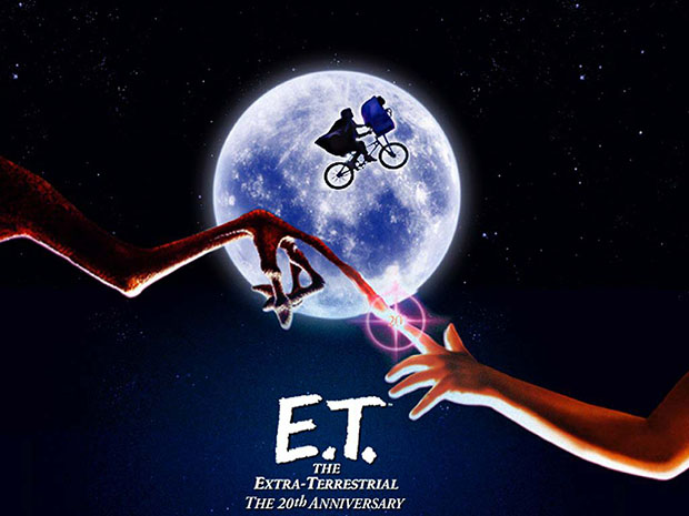 This ET Inspired Photo of Biker Rising In Front of the Moon Was Not Shopped etposter