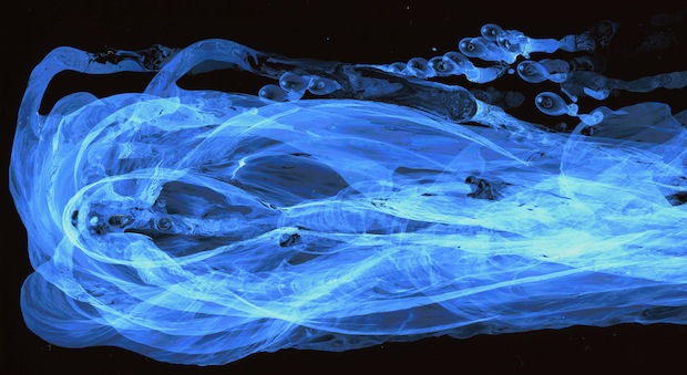 Striking Images Capture the Movement of Water Using a Special Nanoparticle Film facesofwater5