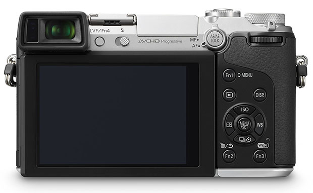 Panasonic GX7 is a 16MP Mirrorless with In Body Stabilization and a Tiltable EVF gx7back