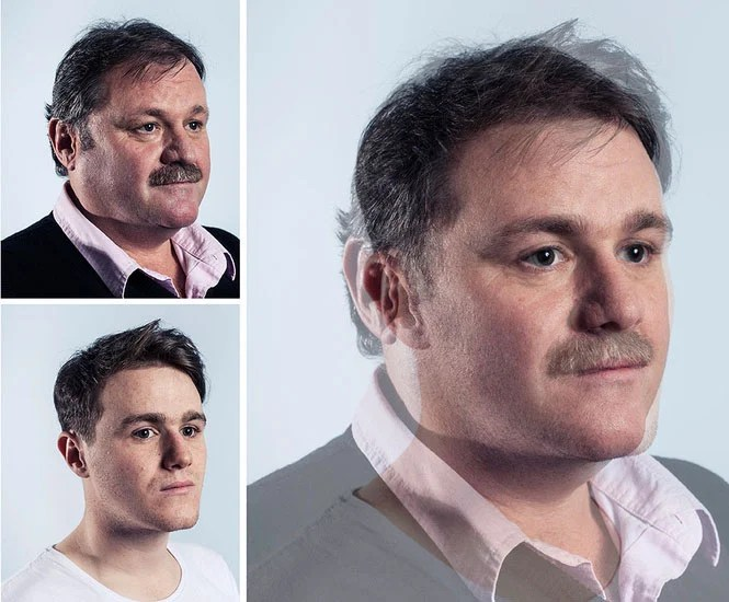 Photographer Blends Portraits of Fathers and Sons to Show Genetic Similarities jpeg 8