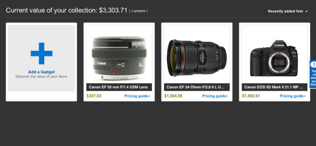 eBay Unveils My Gadgets Feature, Keeps Track of How Much Your Gear is Worth mygadgets2