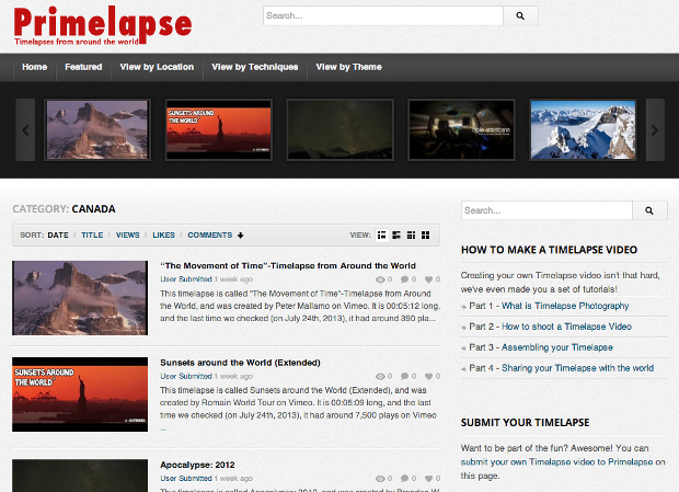 Primelapse Brings Together Quality Time Lapses from Around the World primelapse2