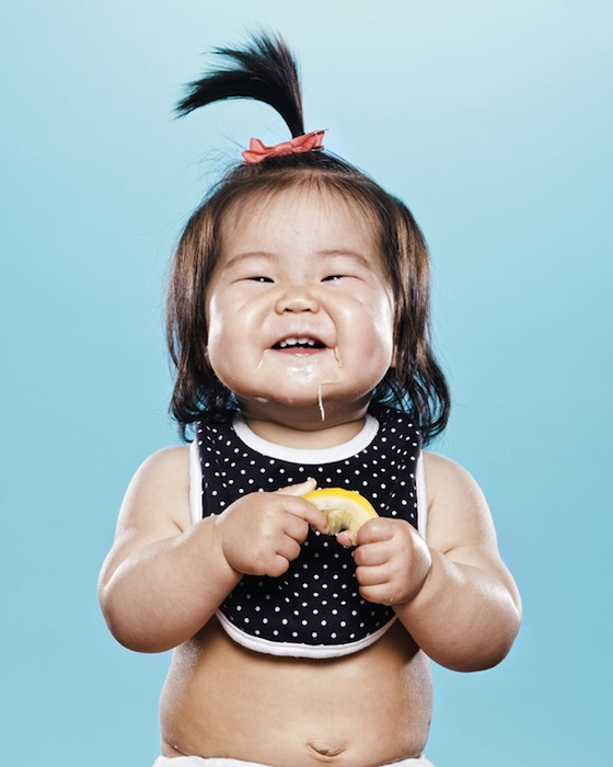 Portraits of Toddlers Reacting to Tasting a Lemon for the First Time pucker8