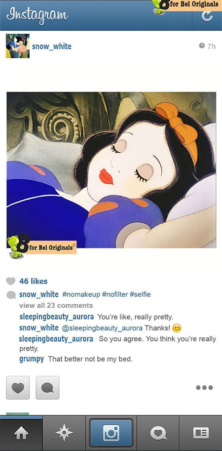 Humor: What if Disney Princesses Shared Photos on Instagram? snowwhite