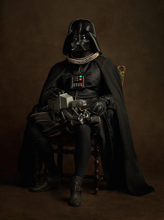 Vader in costum flamand