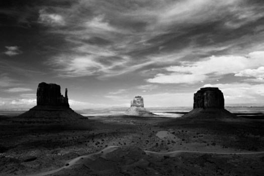 The Mittens and Merrick Butte, Monument Valley Navajo Tribal Park, Colorado.