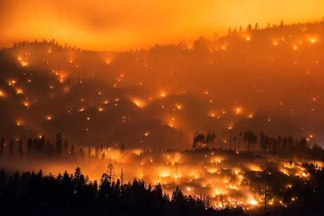 Image result for Images of wildfire in CA