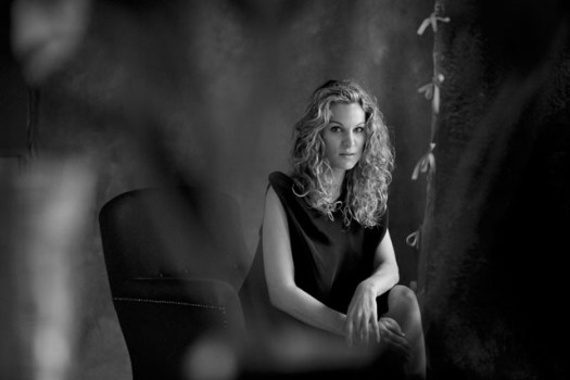 Christina Surer, Race Car Driver, TV Host and Model in the style of Peter Lindbergh