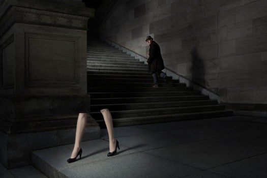 Dani Levy, Film Director and Actor in the style of Guy Bourdin
