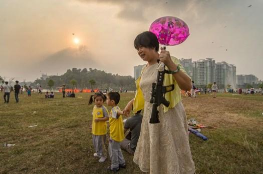 Grandmother with fake gun – Yangjiang, China