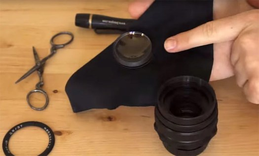Flip this front element and reinstall it in the lens.