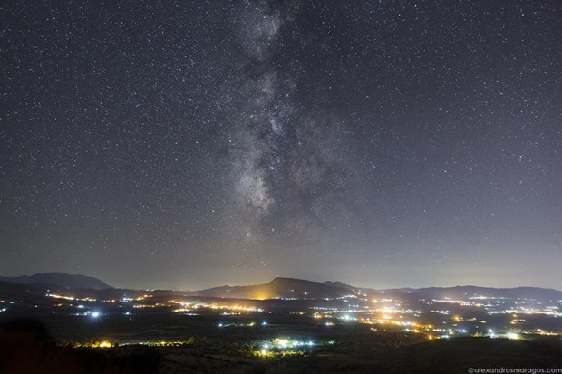 The Milky Way over Peloponnese, Greece