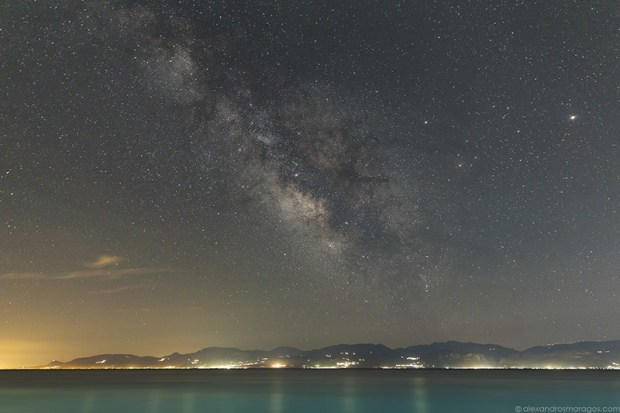 The Milky Way Galaxy over Peloponnese, Greeece