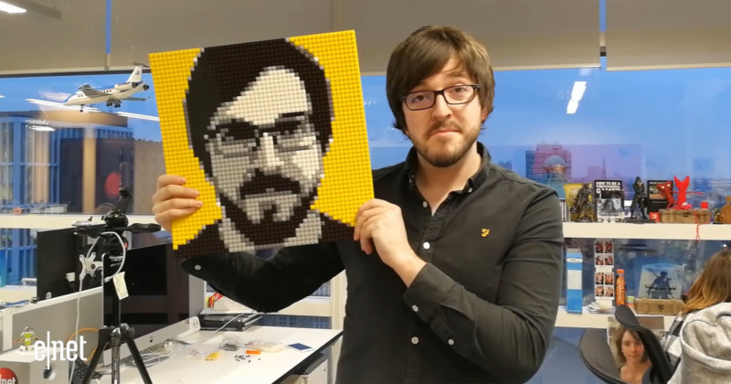 This LEGO Photo Booth Helps You Build Your Portrait with Bricks Still frame by CNET