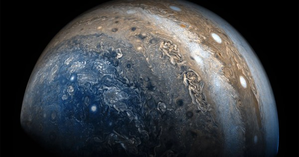 A Gorgeous Flyby of Jupiter Made with Photos from NASAs