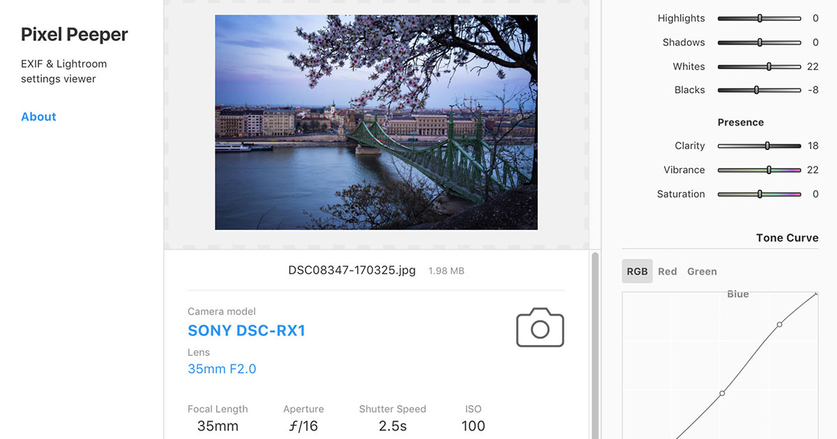 This Website Reveals How JPEG Photos Were Edited in Lightroom