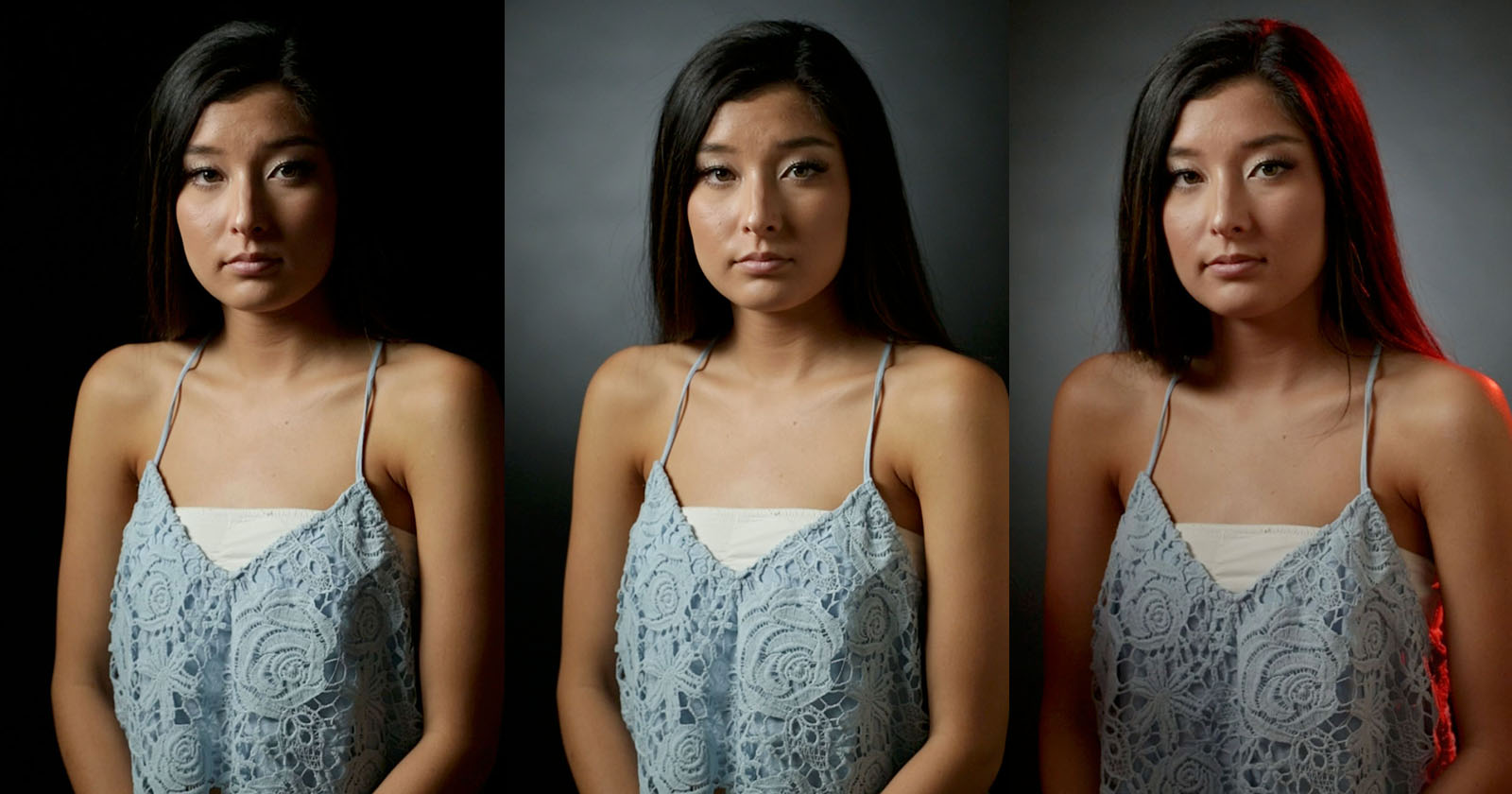 three point lighting for portraits
