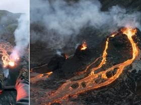 Ho catturato da vicino l'eruzione del vulcano islandese