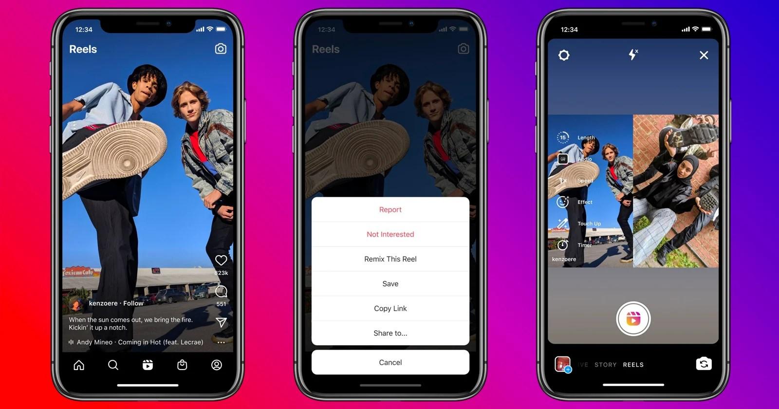 Instagram lancia Remix for Reels, una copia della funzione Duetti di TikTok