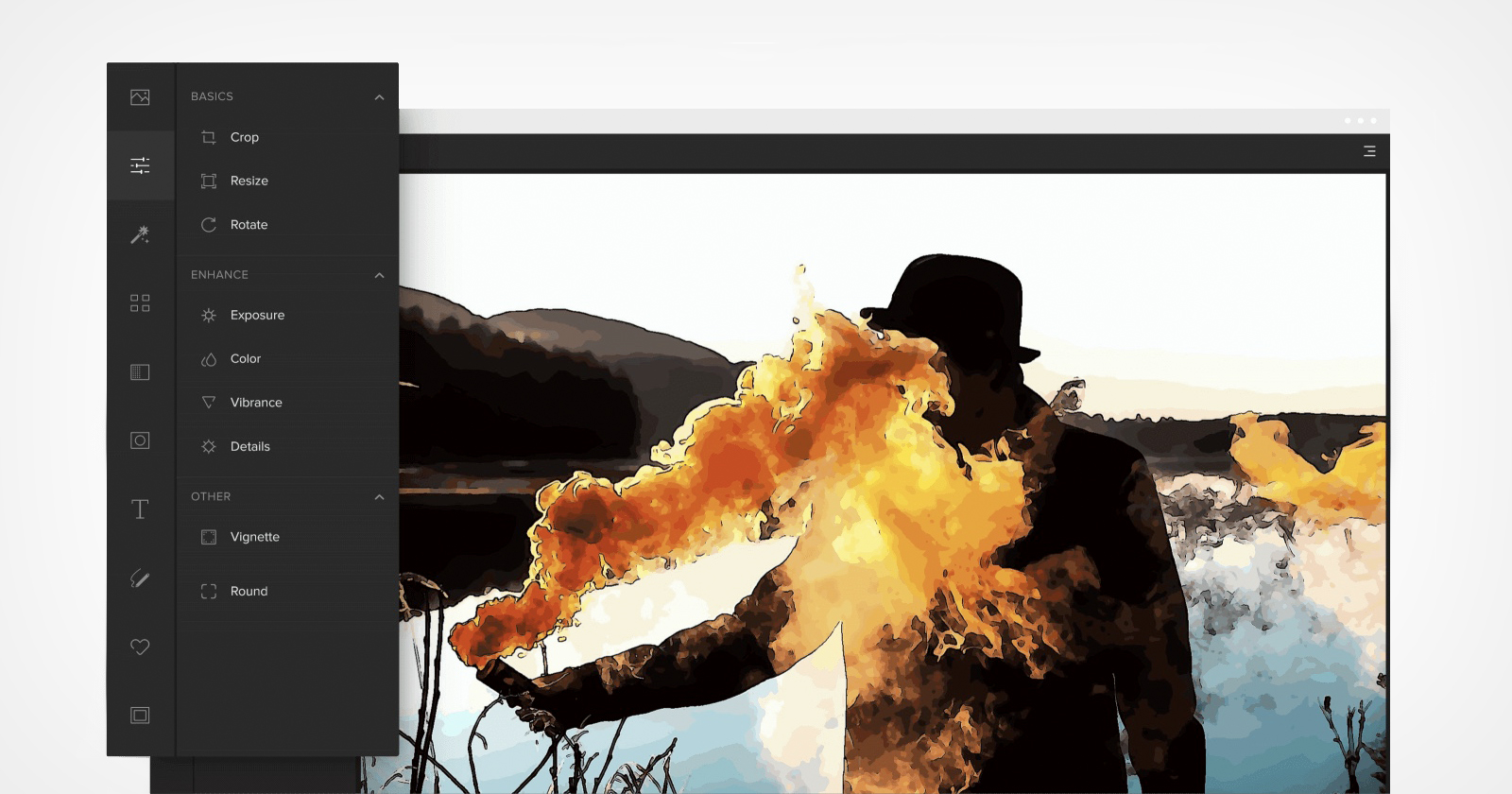 Colorcinch è un editor di foto basato su browser sorprendentemente potente